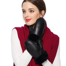 Load image into Gallery viewer, Fashion Heavy Type Winter gloves Women Mittens Real Leather Wool Fur Gloves Lovely Female Sheepskin Leather Fur Gloves 8 colors