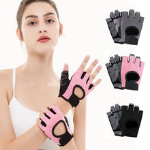 Load image into Gallery viewer, Half Finger Gym Gloves Women Strength Training Sports Riding Weight Lifting Bodybuilding Hiking Breathable Nonslip Gloves