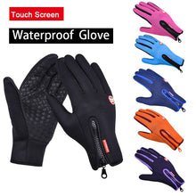 Load image into Gallery viewer, Outdoor winter men and women skiing cold protection touch screen warm sports bike riding camping hiking thickened gloves