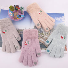 Load image into Gallery viewer, Iwarm women's knited Gloves Autumn Winter Touch screen Gloves Warm lovely Mittens