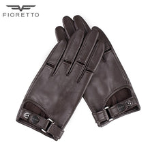 Load image into Gallery viewer, Fioretto Womens  Fashion TouchScreen Genuine Leather Gloves Ladies Punk Driving Gloves Unlined Black Brown Green