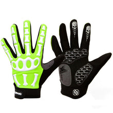 Load image into Gallery viewer, SPAKCT Bike Bicycle Long Full Finger Cycling Riding Racing Bike Bone Cool Soft Gloves Skeleton Cycling Bicycle Bike Gloves Men
