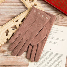 Load image into Gallery viewer, New Women Gloves Autumn And Winter Imitation Rabbit Velvet Keep Warm Touch Screen Thin Female Elegant Style Embroidery S001