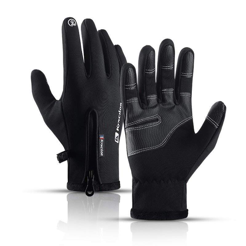Winter warm men and women sports bike riding full finger touch screen waterproof gloves motorcycle ski soft velvet gloves