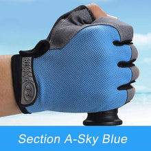 Load image into Gallery viewer, Outdoor Motorcycle Cycling Gloves The Men Spring Summer Non-Slip Shock Absorption Half Finger Gloves Fitness Sports Gloves Women