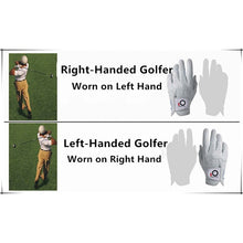 Load image into Gallery viewer, Finger Ten Non-slip Golf Gloves Men Right Hand All Weather Grip Breathable Gloves With Ball Marker Left Hand 1 Pc White Design