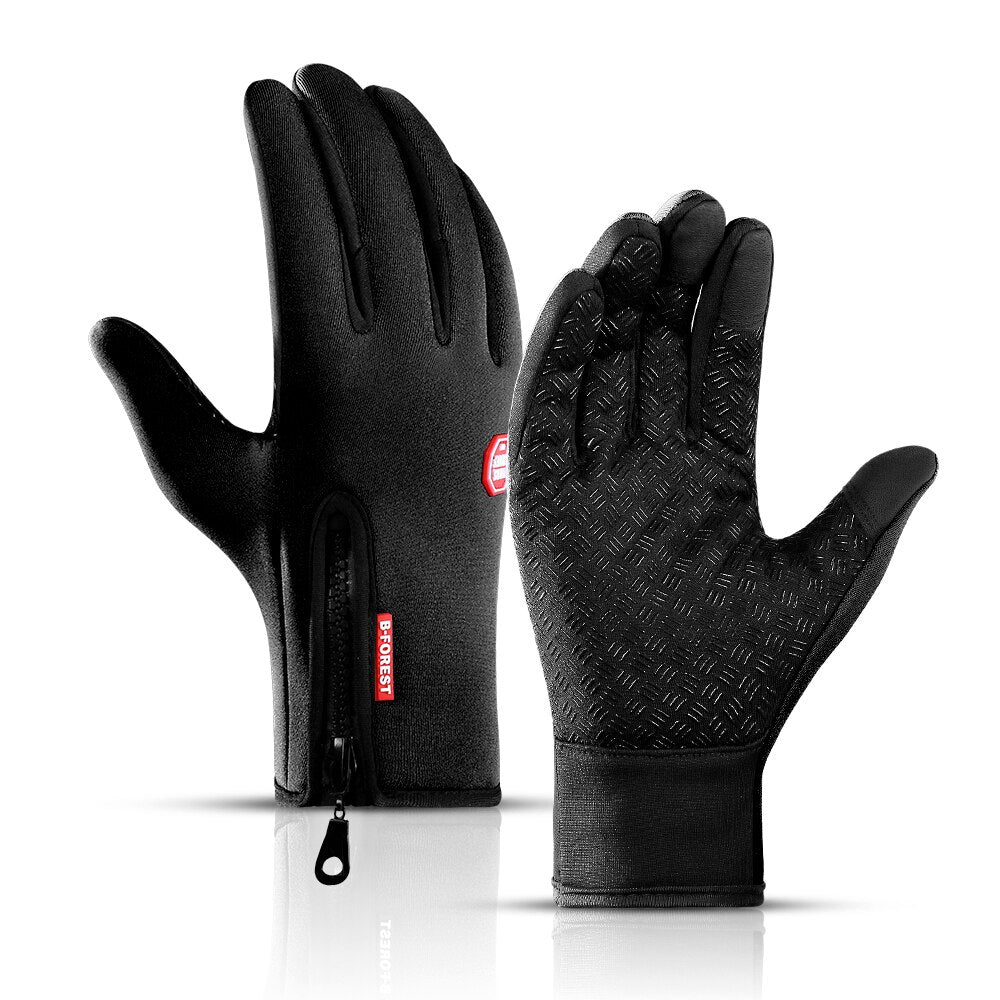 Outdoor winter men and women skiing cold protection touch screen warm sports bike riding camping hiking thickened gloves