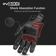 Load image into Gallery viewer, INBIKE Motorcycle Gloves Motocross Touch Screen Shockproof Guantes Moto Breathable Motorbike Gloves All Season Men Gloves