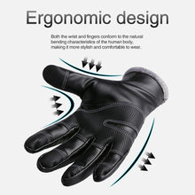 Load image into Gallery viewer, Cycling Gloves Full Finger Leather Gloves Waterproof Antiskid Touch Screen Ski Outdoor Sports Gloves For Men Women ciclismo