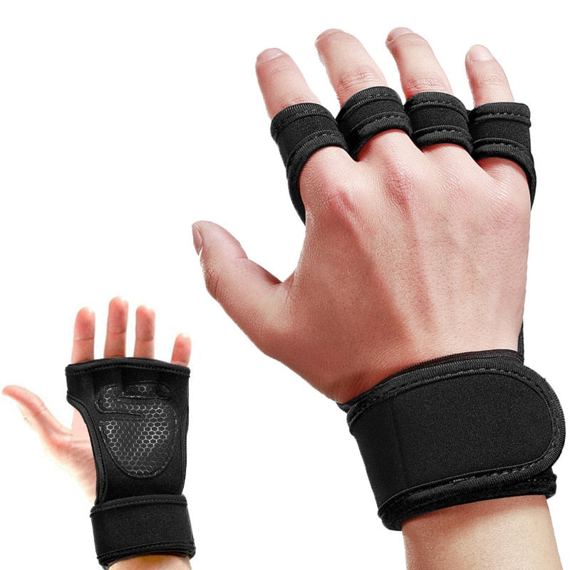 1 pair of weightlifting training gloves men and women fitness sports hand grip palm protection non-slip rider protective sleeve