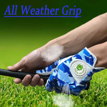 Load image into Gallery viewer, Blue Camouflage Design Golf Gloves Men with Ball Marker Cool All Weather Grip Left Right Hand Size S M L XL
