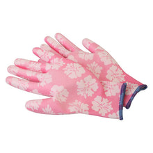 Load image into Gallery viewer, 3 Pairs Garden Gloves GMG Printed Polyester Shell White PU Coating Safety Work Gloves Women's Working Gloves Women