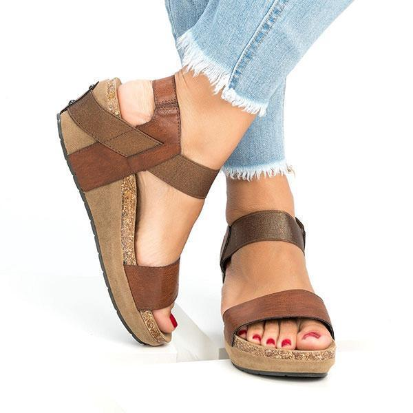 Lemmikshoes Low Heel Wedge Sandals