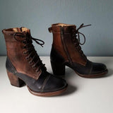 Lemmikshoes Fashion Cool Coarse Heel Vintage Booties