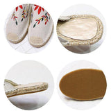 Lemmikshoes Fashion Embroidered Espadrille Flat Slippers