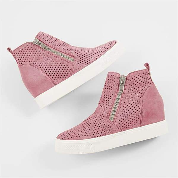 Lemmikshoes Platform Side Zipper Sneakers