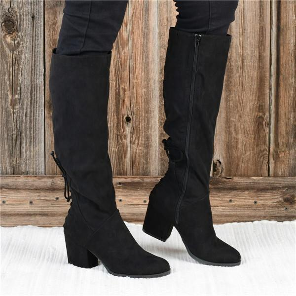 Lemmikshoes Winter Suede Low Heel Daily Boots