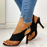 Lemmikshoes Toe Post Slingback Thin Heeled Sandals