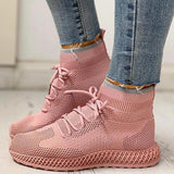 Lemmikshoes Breathable Lace-up Casual Socks Sneakers