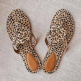 Lemmikshoes Leopard Printed Hollow Out Beach Slippers
