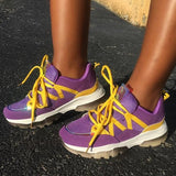 Lemmikshoes Purple Faux Suede Sneakers