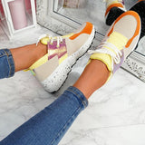 Lemmikshoes Color Block Stitching Sequin Casual Sneakers