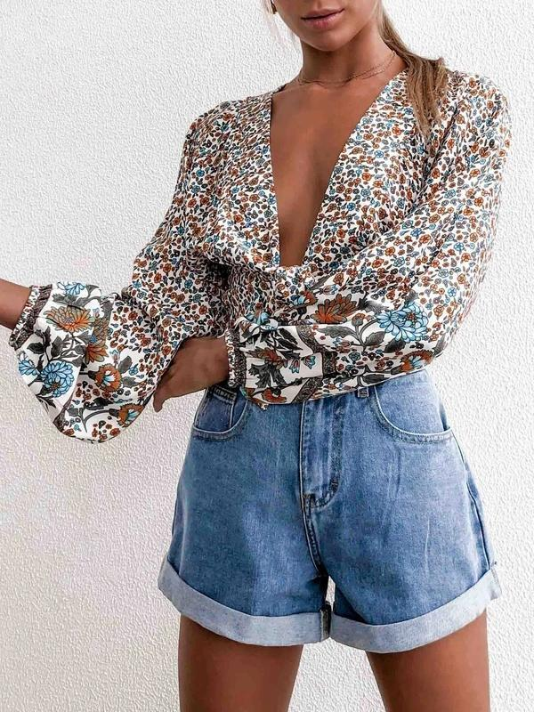 Lemmikshoes Flower Cropped Rayon Not lined Top