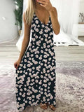Lemmikshoes Sleeveless Printed V Neck Holiday Dress