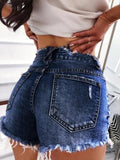 Lemmikshoes Fashion Sexy Foundation Ripped Denim Shorts Pants