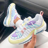 Lemmikshoes Multicolor Stitching Cute Air Cushion Mesh Sneakers