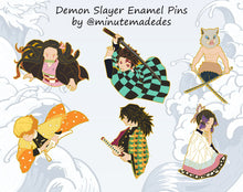 Load image into Gallery viewer, PREORDER AUGUST | Demon Slayer Enamel Pins