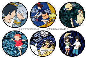 Ghibli Inspired Stickers