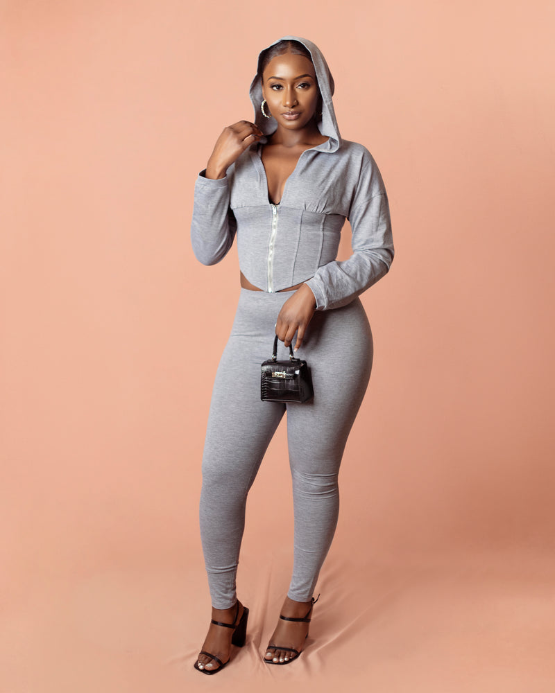 Chillin' Hoodie Set | Gray