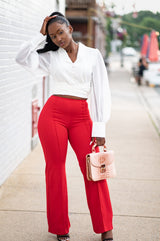 Lady In Red Trousers