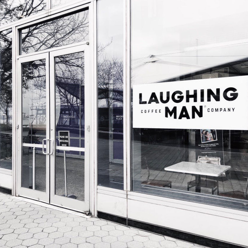 Vesey Street laughing man coffee