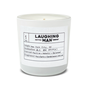slow burn candle from Laughing Man Coffee