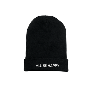 All be happy beanie by Laughing Man Coffee
