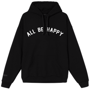 All Be Happy Collegiate Hoodie by Laughing Man Coffee