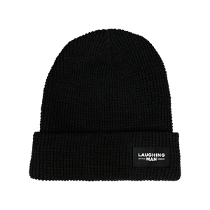 Open image in slideshow, Laughing Man Waffle Knit Beanie