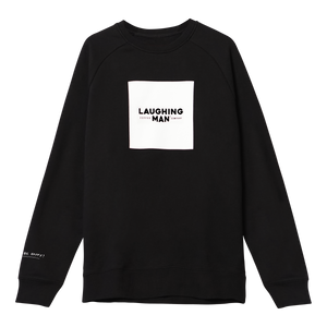 Laughing Man Crewneck Sweatshirt black