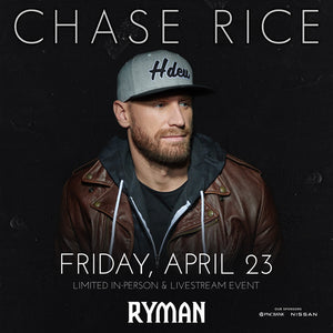 Chase Rice - Livestream Ticket