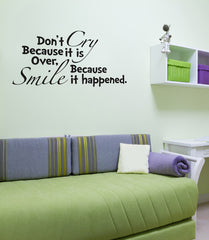Cry Smile Seuss Quote Vinyl Decal
