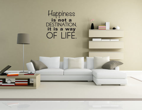 Happiness Quote Removable Vinyl Decal