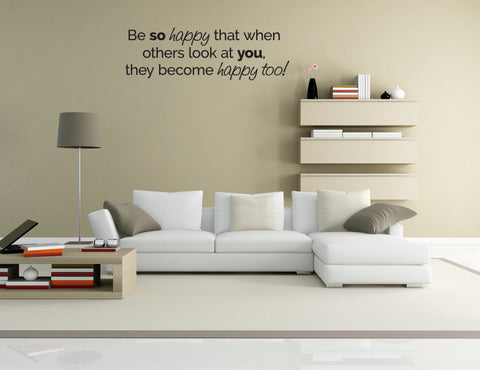Be SO Happy Vinyl Decal