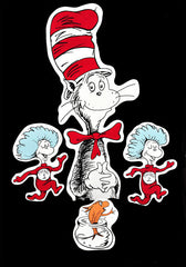 "Wall Hanging ""Cat In The Hat"" Character Painting Collection"