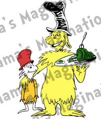 Dr. Seuss Inspired Green Eggs & Ham Decal