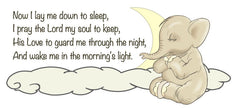 Children's Elephant Prayer Decal - As I lay me down to sleep