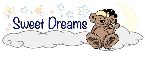 Children's Sweet Dreams Decal - Nursery Crib decal - Bed Time Vinyl Wall Art