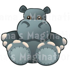 Children's Room Hippo Removable & Reusable Vinyl Decal