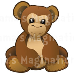 Children's Room Monkey Ape Removable & Reusable Vinyl Decal